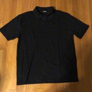 Claiborne Men - SS - Black Pin Stripe Polo Shirt